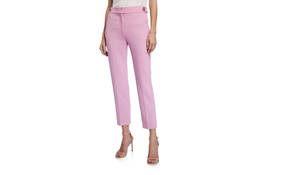 Veronica Beard Gamila Mid-Rise Ankle Pants Neiman Marcus