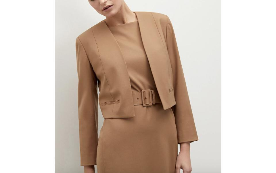 M.M. LaFleur The Cynthia Dress M.M. LaFleur The Neale Jacket- Wool Twill- Washable Wool Twill M.M. LAFLEUR