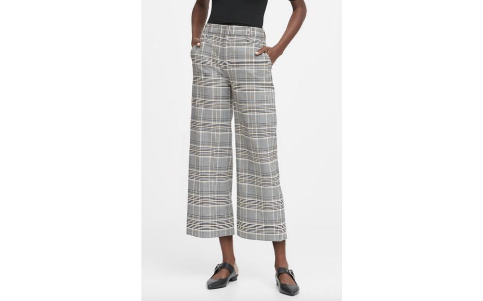 Banana Republic Slim Wide-Leg Cropped Pant