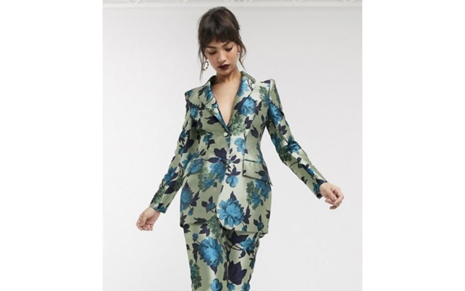 Asos Edition Summer Floral Jacquard Blazer