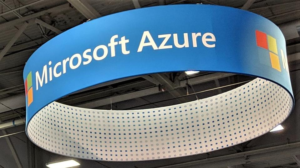 Microsoft Azure signage at Supercomputing 2018