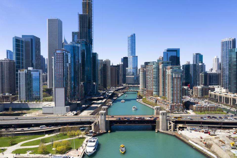 Chicago Skyline, Aerial View