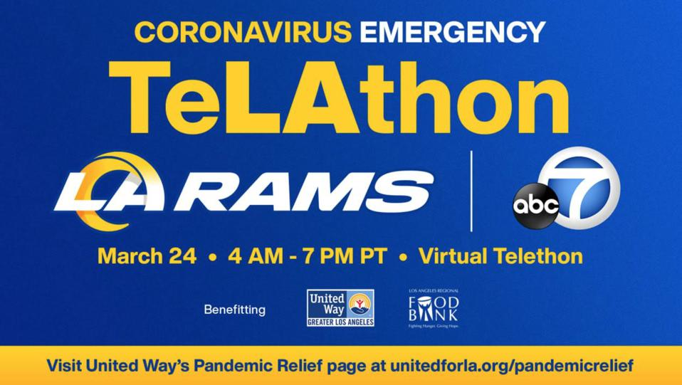 Imagery from emergency United Way virtual telethon