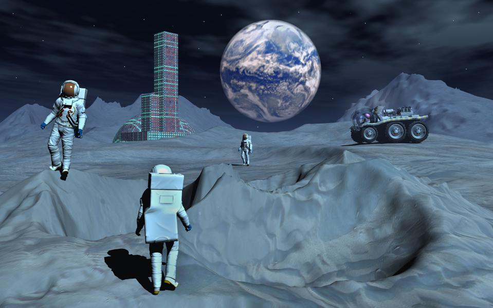 The mining of the moon's regolith could be essential to the viability of a moon-base.