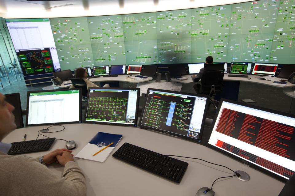 Snam dispatch center in San Donato Milanese, Italy.