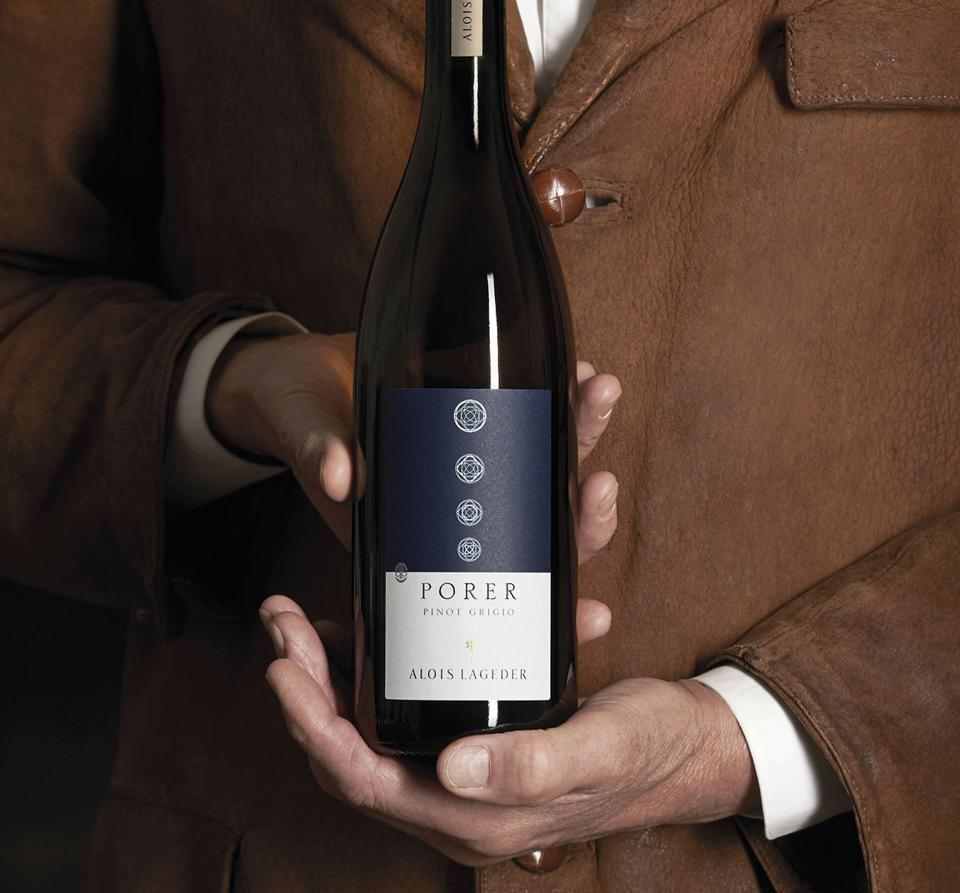 Alois Lageder Pinot Grigio ″Porer″, one of Italy's most distinctive examples of Pinot Grigio