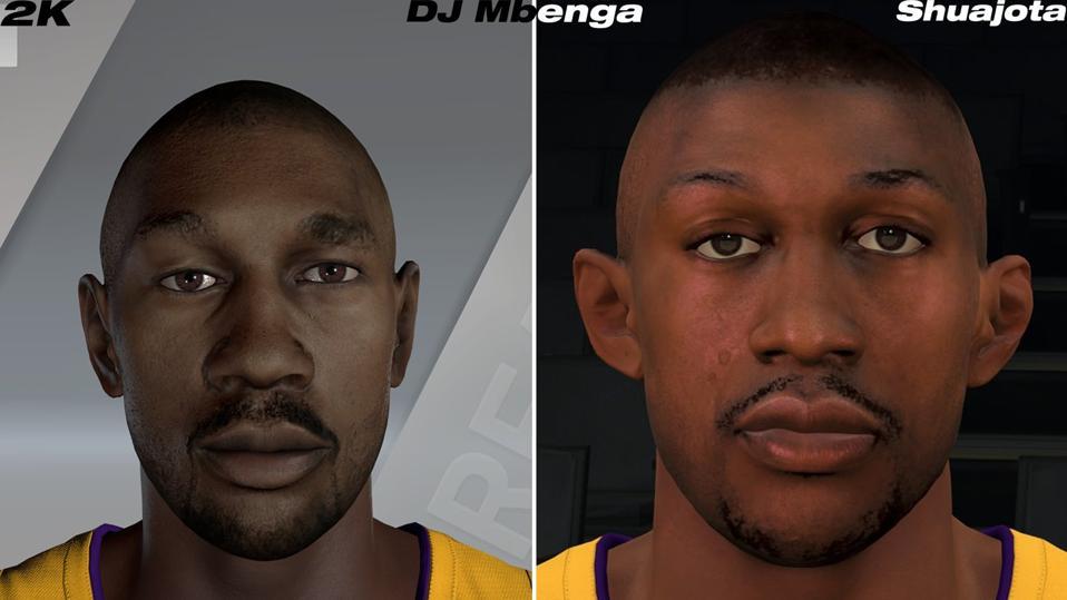 DJ Mbenga of Lakers PC Mod in NBA 2K20