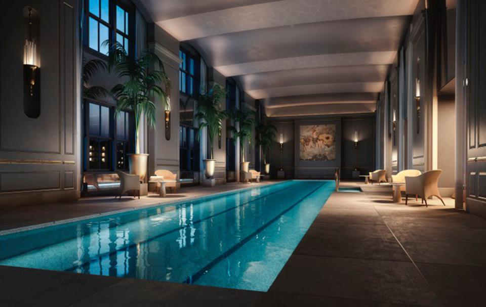Swimming pool at 111 West 57th Street