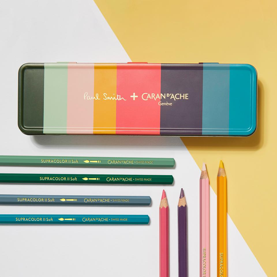 Limited edition Caran d'Ache Supracolor® Soft water-soluble color pencils.