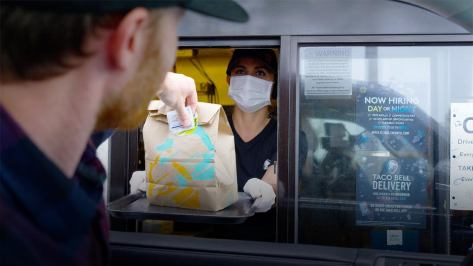 Taco Bell safety measures during coronavirus pandemic.