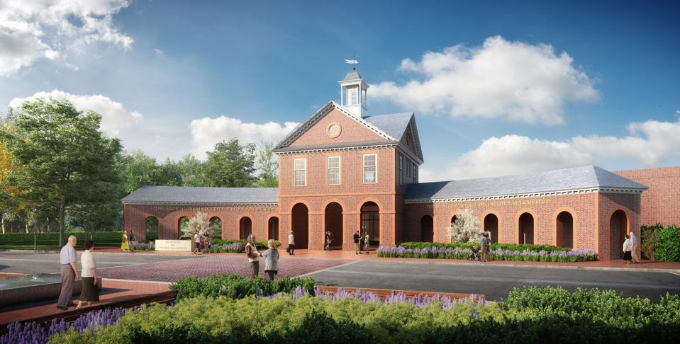 Colonial Williamsburg Art Museums New Entrance The Art Museums of Colonial Williamsburg's 65,000-square-foot expansion, scheduled for completion this year, features a new dedicated entrance pavilion on South Nassau Street, welcoming guests from the Historic Area and other nearby sites. The $41.7-million project, which broke ground in 2017, is funded entirely through donor support.