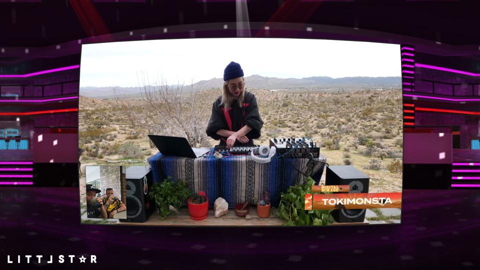 TOKiMONSTA performing at Digital Mirage.