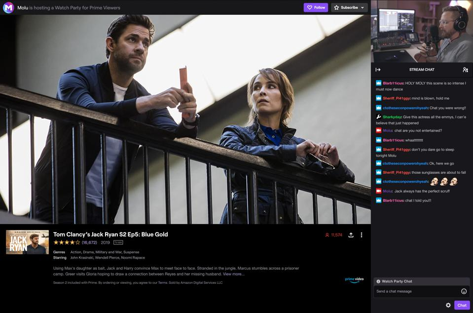 Watch Parties is a new social viewing experience by Twitch that lets creators and viewers enjoy Amazon Prime movies and TV shows together.
