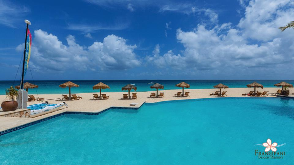 Frangipani Beach Resort Zoom background