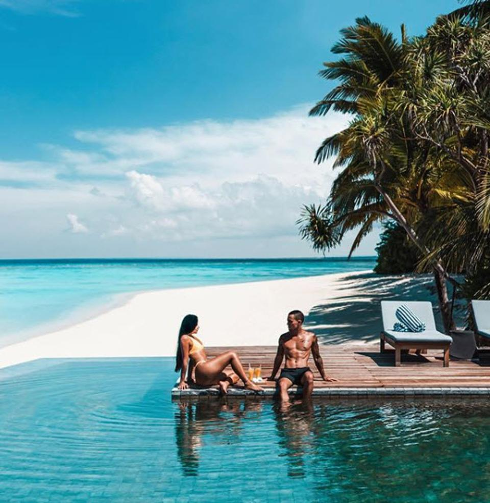 Angie Villa and Jeremy Austin in the Maldives