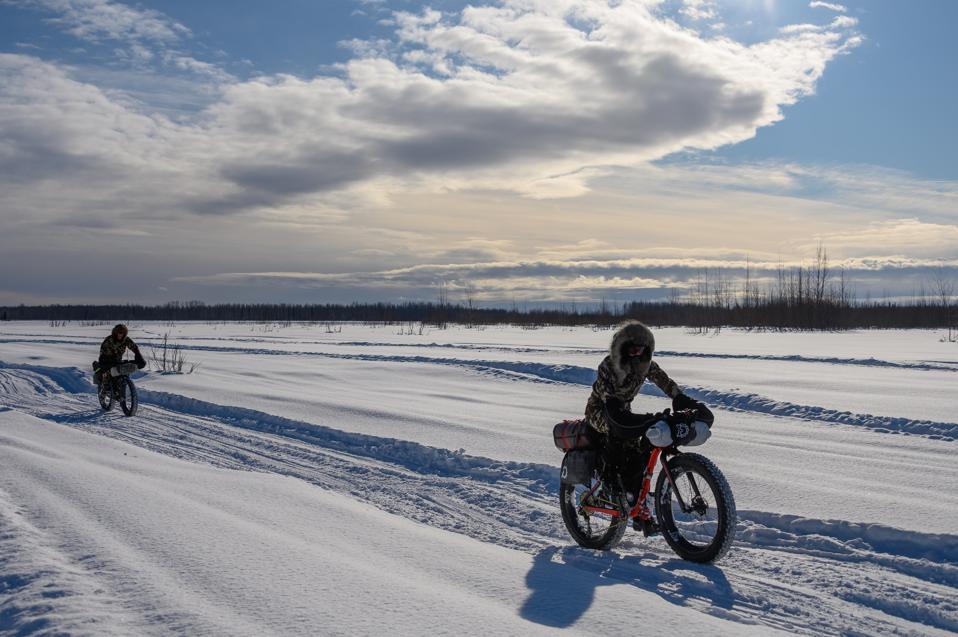 Rebecca Rusch competes in the 2020 Iditarod Trail Invitational, unaware of COVID-19.