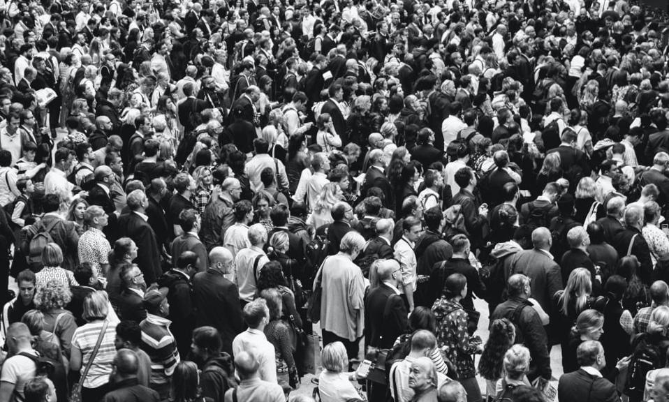 A crowd of people, pre-Coronavirus