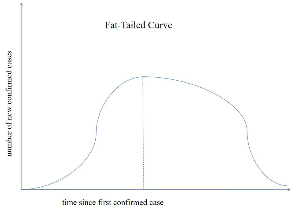 Fat-tailed curve