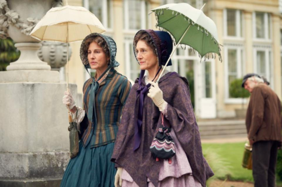 """Tamsin Greig, left, and Harriet Walter play women of different stations thrown together by mutual interest in the Epix miniseries """"Belgravia."""""""