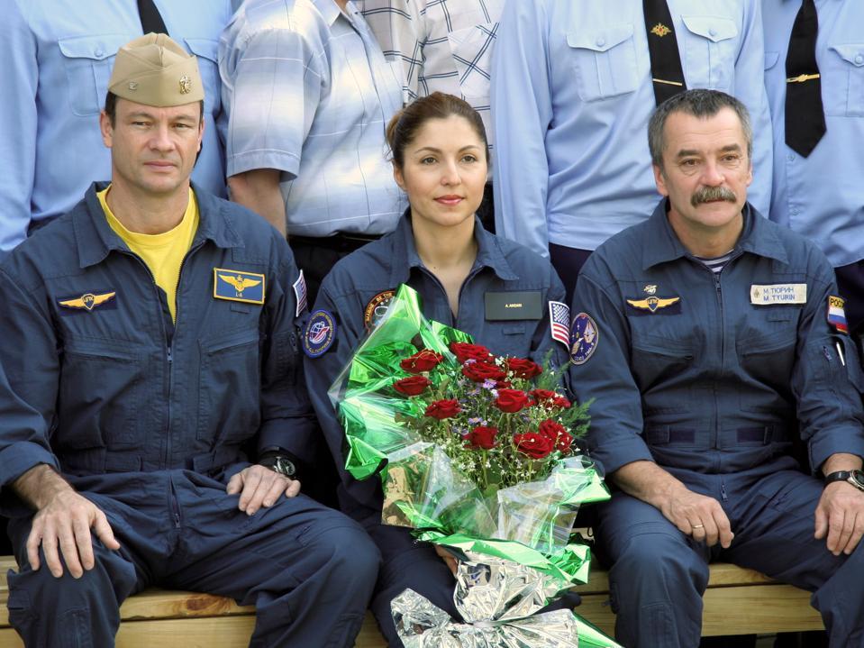 Anousheh Ansari on her way to space, 2006