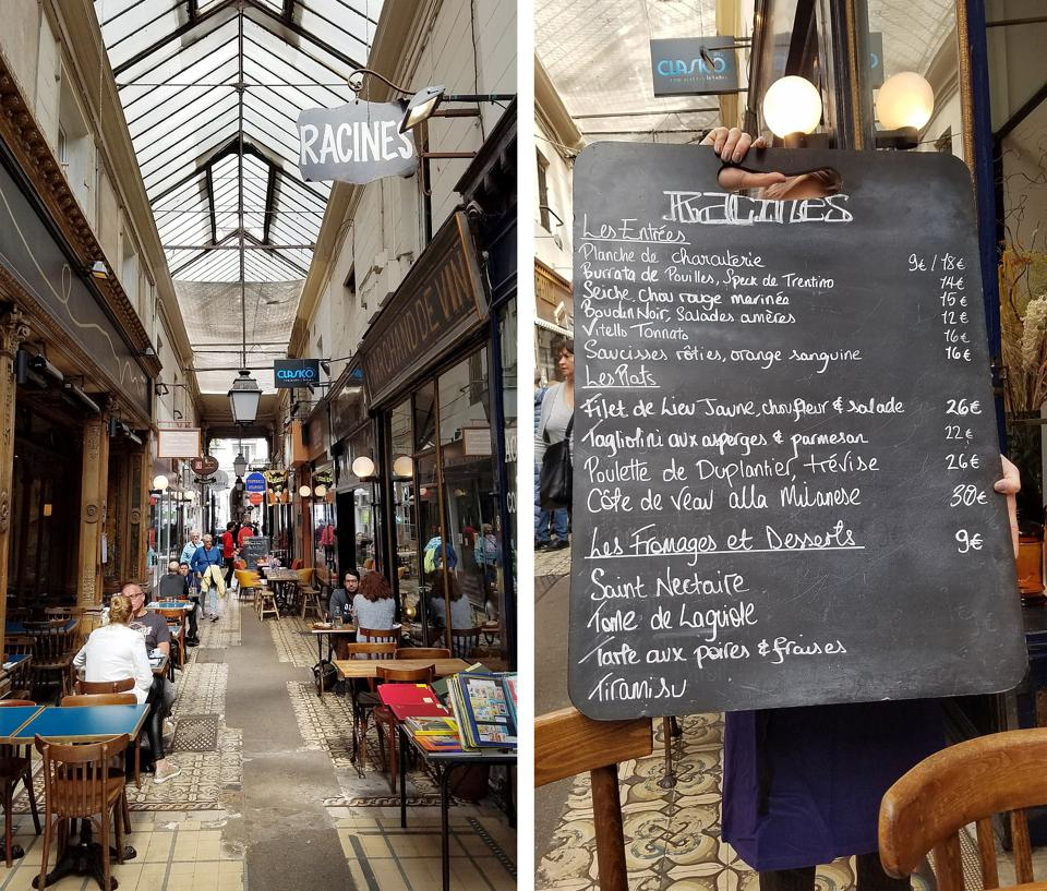 Passage des Panoramas is a historic shopping and dining gallery, and home of Racine's
