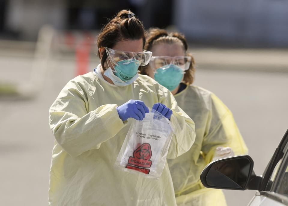 Coronavirus Drive Thru Testing Penn State Health Saint Joseph
