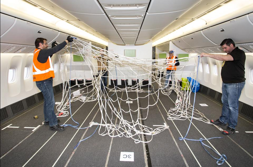 Restraint nets will secure cargo in Air Canada's cabin