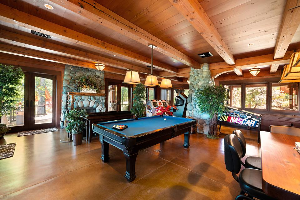 Game room at a lodge