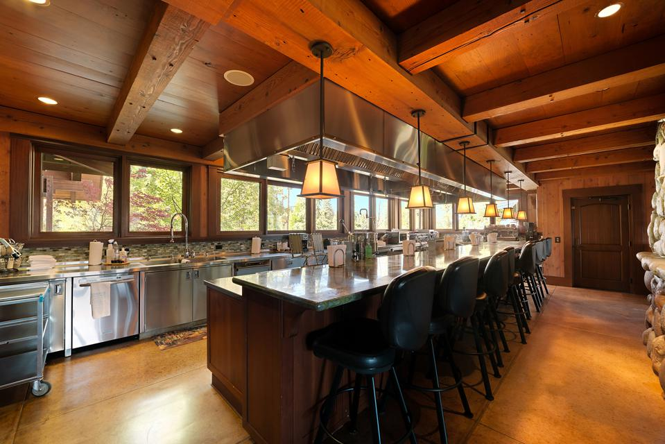 Commercial kitchen in residence