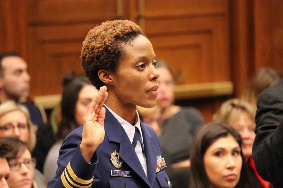 A brave Coast Guard whistle-blower testifies before congress.