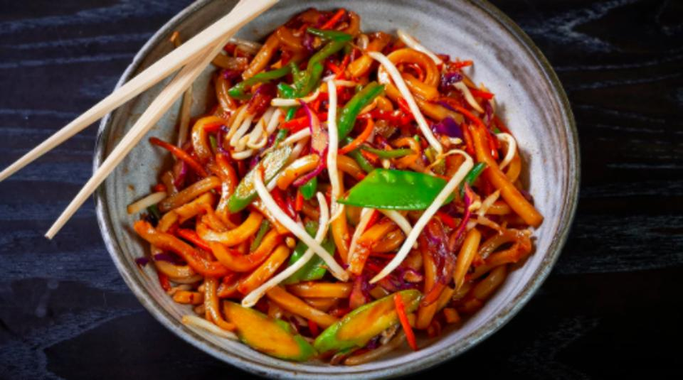 Spicy Yaki Udon from Chef Gerald Chin.