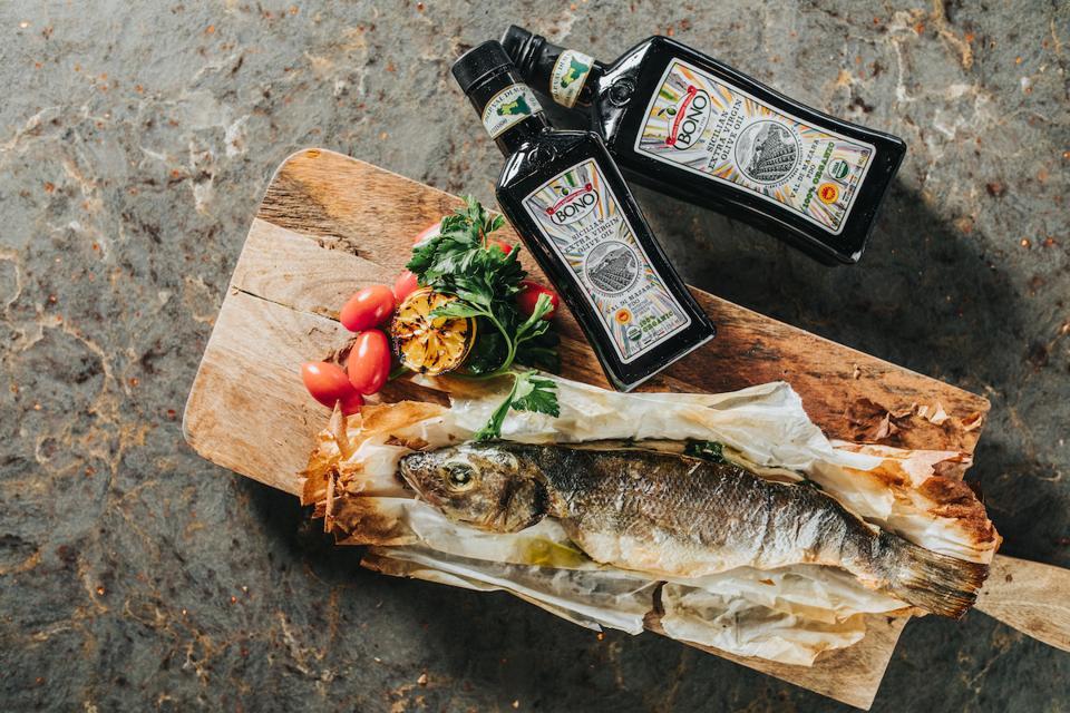 Bono Extra Virgin Olive Oil Branzino Italian Italy Gourmet Provisions Elevate Home Cooking