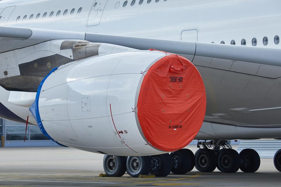 Parked Lufthansa A380