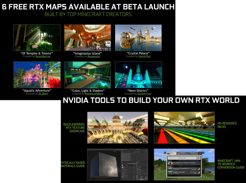 New RTX maps and tools for Minecraft.