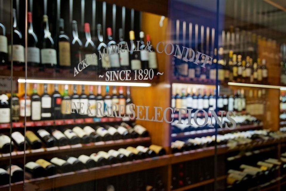interior of Acker Wine shop