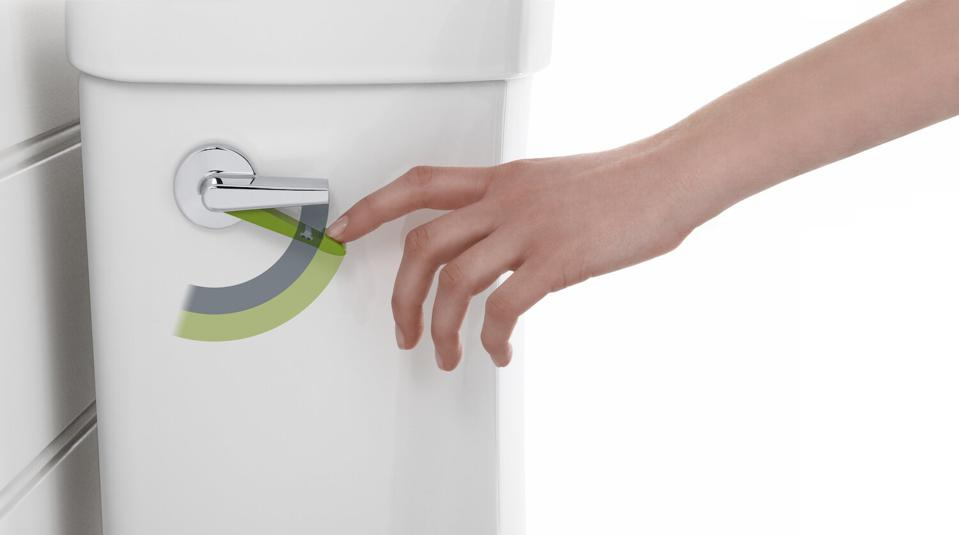 Kohler's dual-flush levers or actuator with two flow options