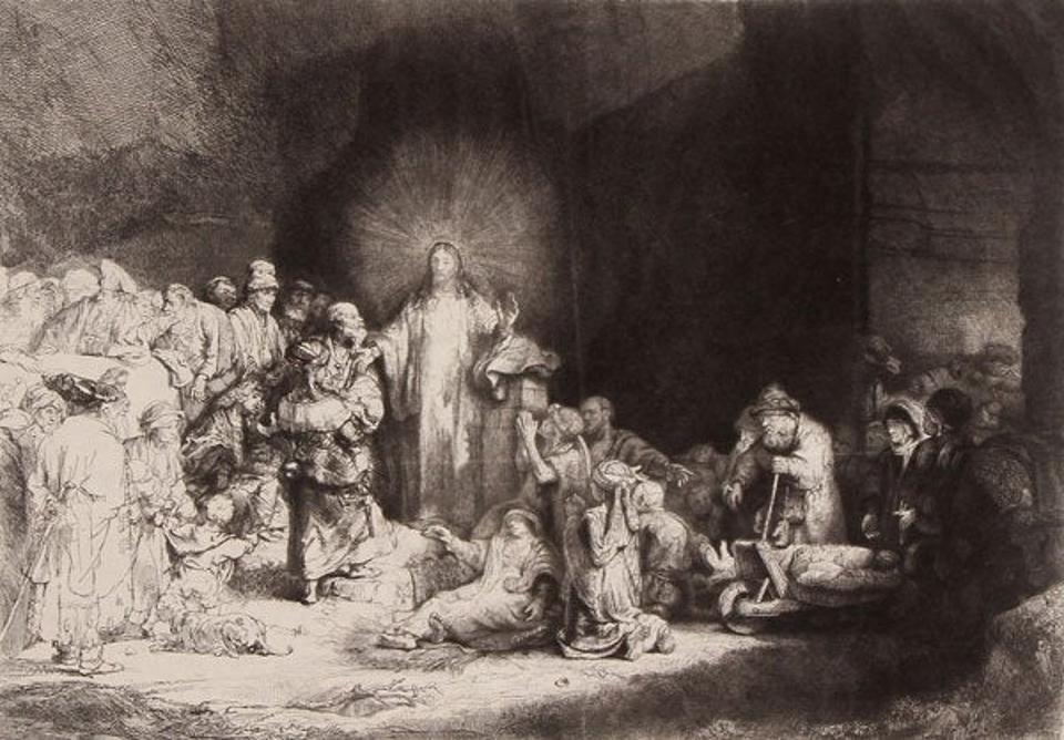 Rembrandt's ″Christ Healing the Sick″, known as  ″The Hundred Guilder Print″