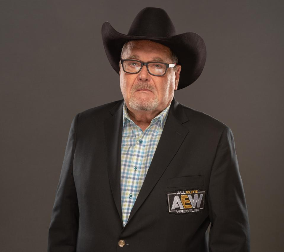 AEW Dynamite play-by-play announcer Jim Ross celebrates the release of his latest book Under the Black Hat: My Life in the WWE and Beyond (Photo courtesy of All Elite Wrestling)