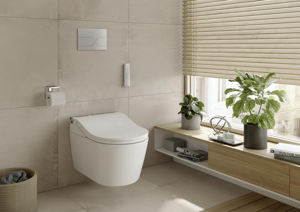 This is the RP WASHLET+ RW Wall-Hung Toilet from TOTO.