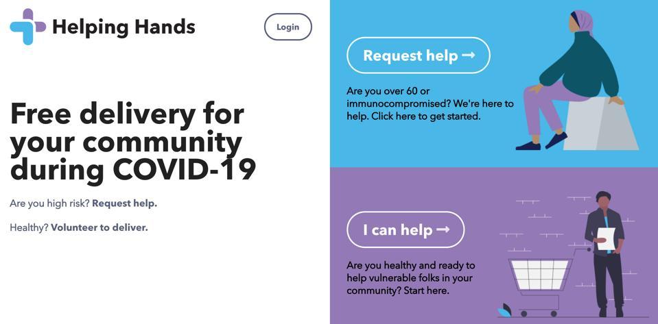 Helping Hands' website