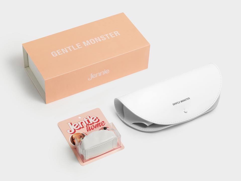 BLACKPINK Jennie Kim x Gentle Monster collaboration packaging for Jentle Home