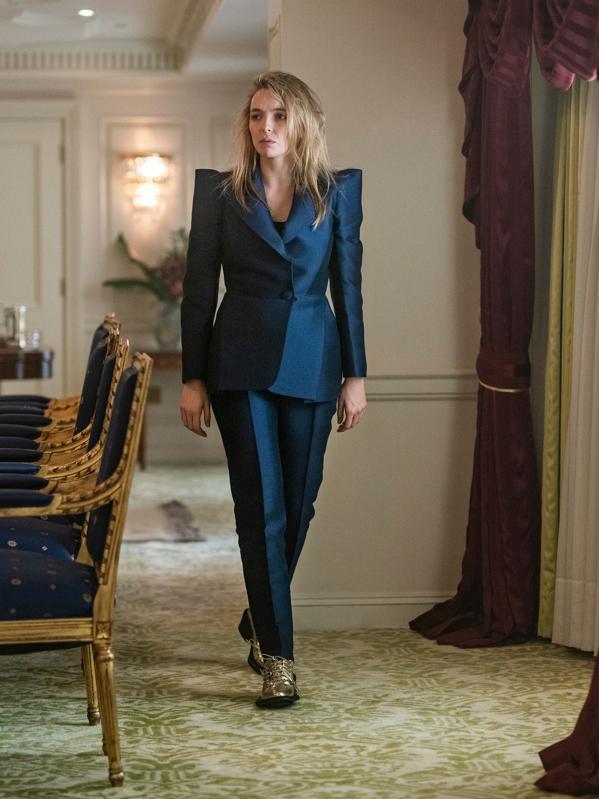 Parisian brand Dice Kayek serve Villanelle's best suit of season three
