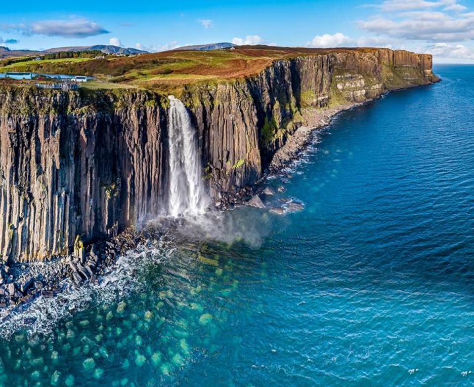 The Kilt Rock Waterfall, Scottish Isles Tour.