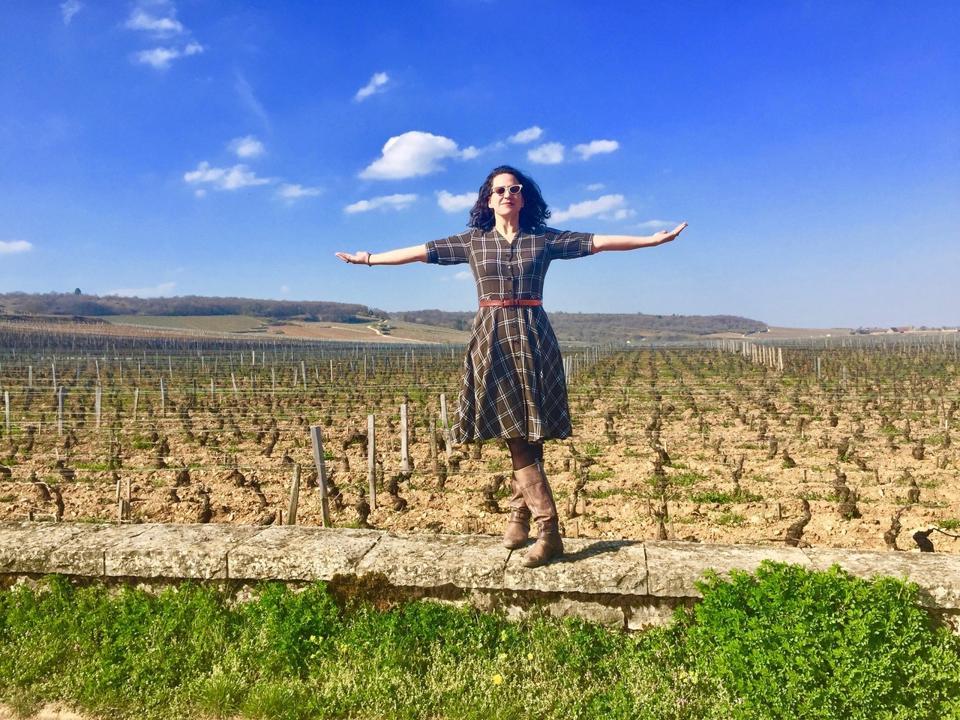Tanya at Romanee-Conti