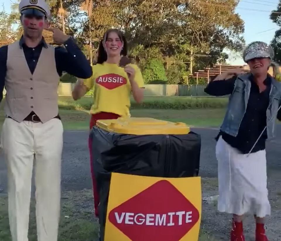 The Jacqui Hunter Vegemite family in New South Wales