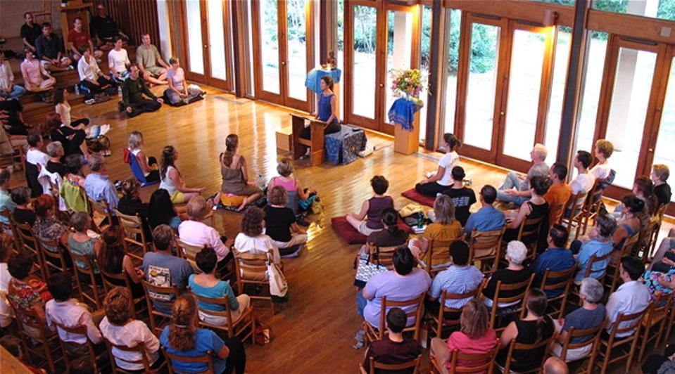 Tara Brach leading one of her meditation classes