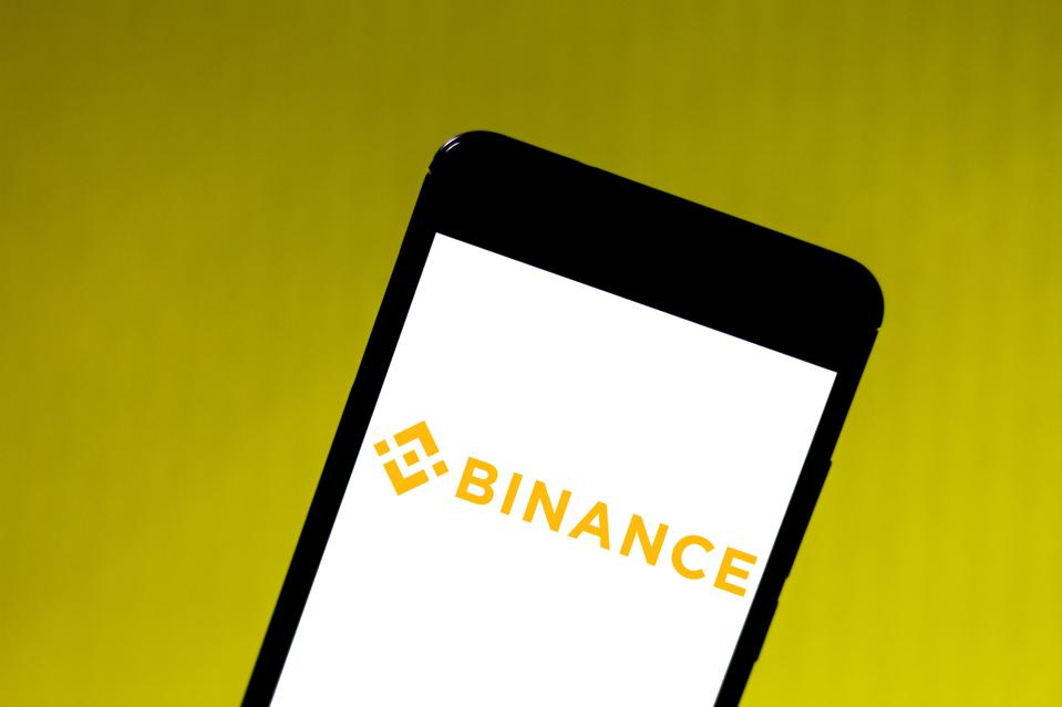 In this photo illustration the Binance logo is seen...