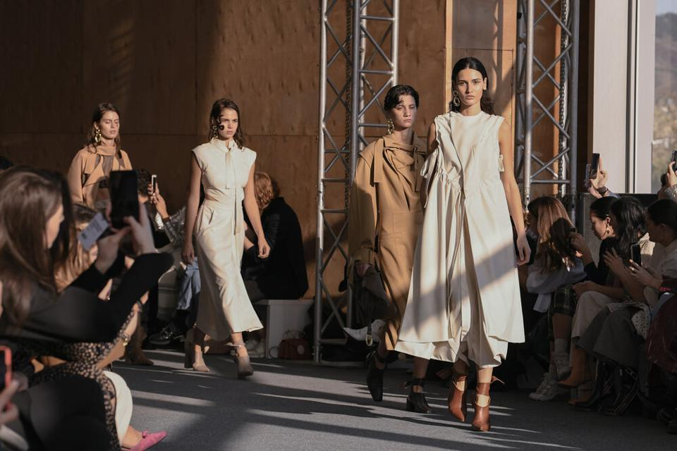Nino Babukhadia presents her collection at the Mercedes Benz Fashion Week Tbilisi