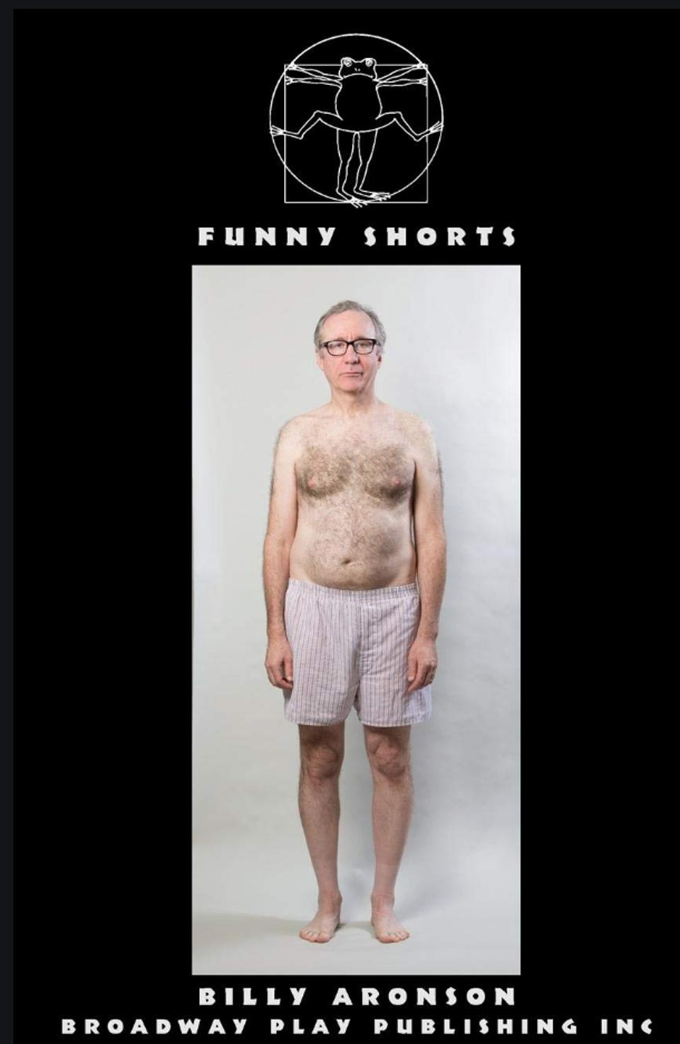 Billy Aronson in shorts on the cover of his short-story collection Funny Shorts