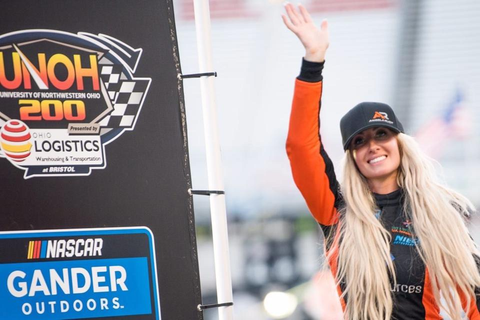 Angela Ruch at NASCAR's UNOH 200 race